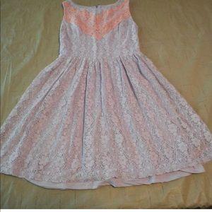 Xhiliration sz Xs Purple peach lace floral dress
